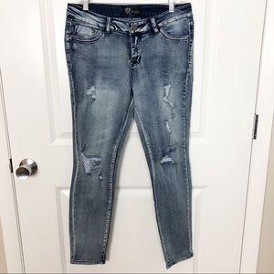 Rock & Royal | NWT Distressed Skinny Jeans 11 H003